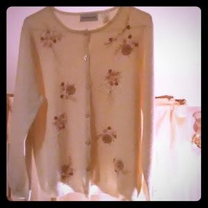 Ladies button-up sweater